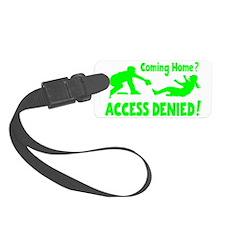 green2 Access Denied, retro on b Luggage Tag
