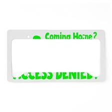 green2 Access Denied, retro o License Plate Holder