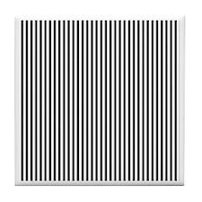 Black and White Stripes Tile Coaster