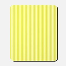 Yellow and White Striped Mousepad