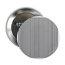 "Black and White Stripes 2.25"" Button"