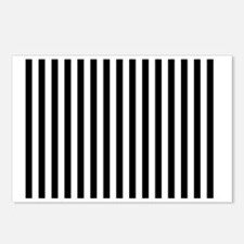 Black and White Stripes Postcards (Package of 8)