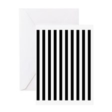 Black and White Stripes Greeting Card