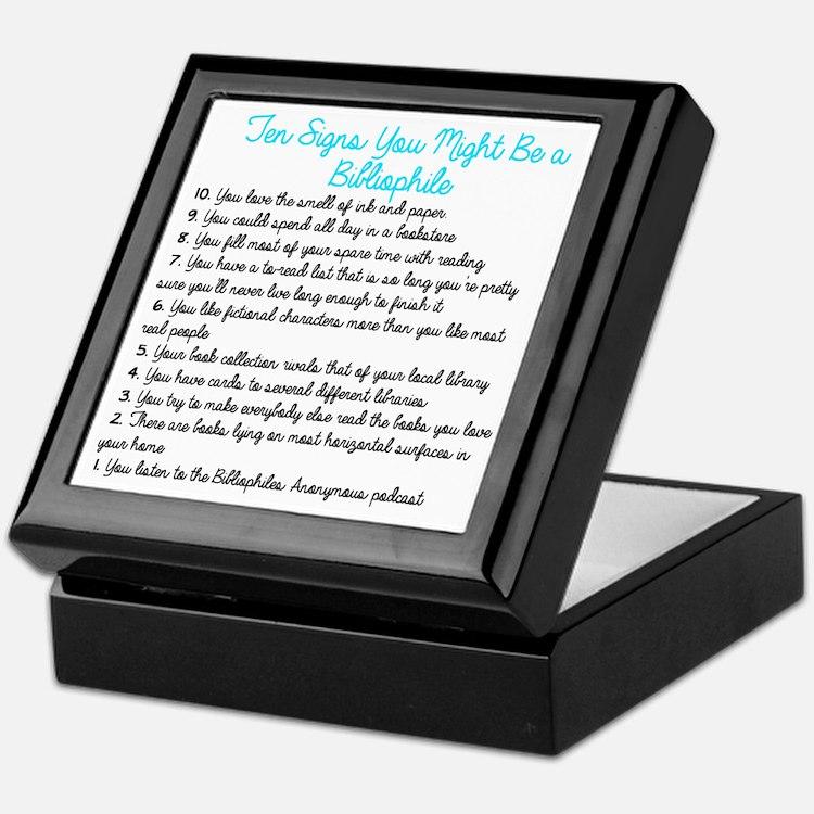 Ten Signs You Might Be a Bibliophile Keepsake Box