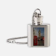 London phone box Flask Necklace