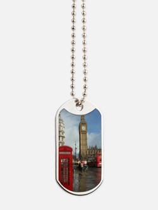 London phone box Dog Tags