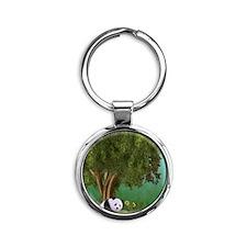 Cute Panda Round Keychain