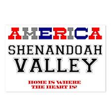 AMERICAN REGIONS - SHENAN Postcards (Package of 8)