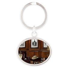 Country Club Oval Keychain