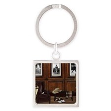 Country Club Square Keychain