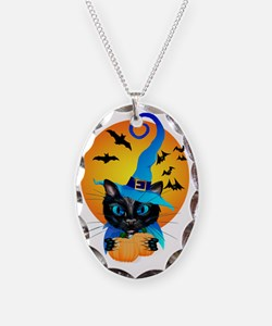 Blue Witch Kitty Necklace