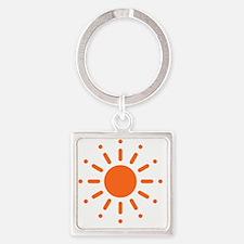 Sun / Soleil / Sol / Sonne / Sole  Square Keychain
