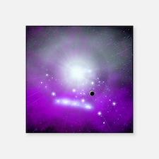 """Purple Space Square Sticker 3"""" x 3"""""""