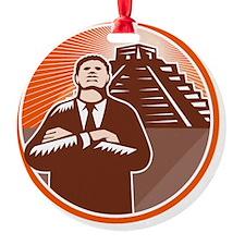 African American Businessman Protec Ornament