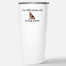 80 birthday dog years g Travel Mug