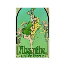 Absinthe Art Nouveau Rectangle Magnet