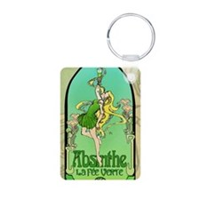 Absinthe Art Nouveau Aluminum Photo Keychain