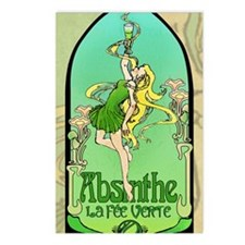 Absinthe Art Nouveau Postcards (Package of 8)