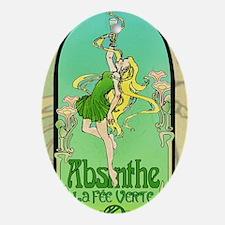 Absinthe Art Nouveau Oval Ornament