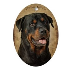Rottie Oval Ornament