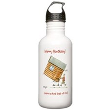 Happy Birthday - shed  Water Bottle