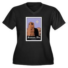 New Mexico Women's Plus Size V-Neck Dark T-Shirt