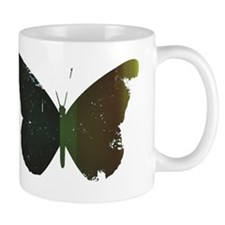 GREEN BUTTERFLY Small Mugs