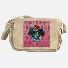 Island Time Surfer Tiki Messenger Bag