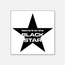 "The Bends Black star large  Square Sticker 3"" x 3"""