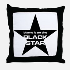 The Bends Black star large star Throw Pillow