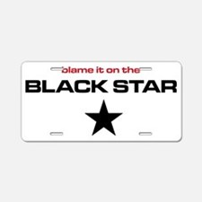 The Bends Black star small  Aluminum License Plate