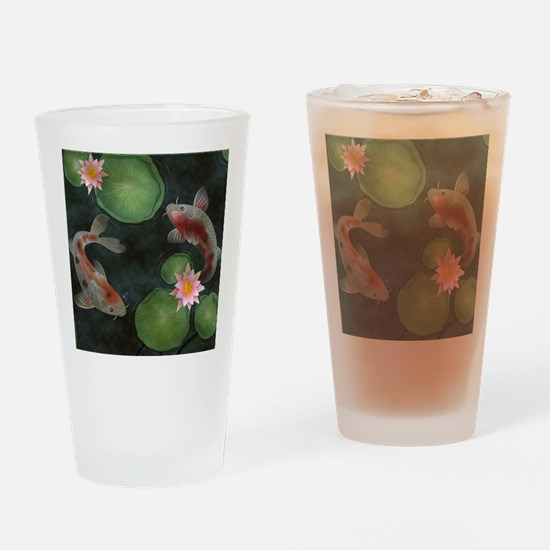 Koi Drinking Glass