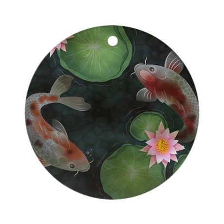 Koi round ornament by admin cp109391312 for Koi fish ornament