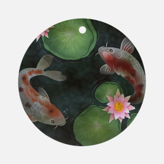 Koi Round Ornament