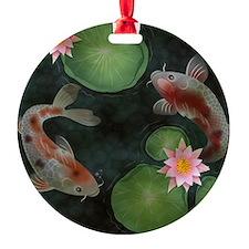 Koi Round Ornament