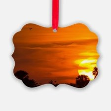 Sunset on Fire Ornament