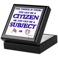 Citizen or subject Keepsake Box