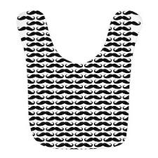 Mustache pattern Bib