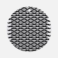 Mustache pattern Ornament (Round)