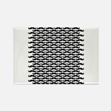 Mustache pattern Magnets
