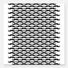 "Mustache pattern Square Car Magnet 3"" x 3"""