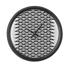 Mustache pattern Large Wall Clock