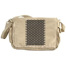 Mustache pattern Messenger Bag