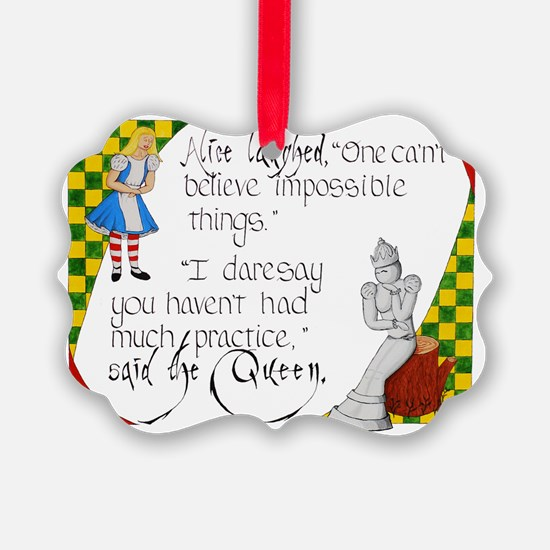Alice and the White Queen Ornament