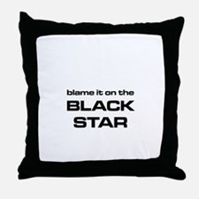 The Bends Black Star large star white Throw Pillow