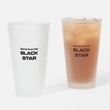 The Bends Black Star large star whi Drinking Glass