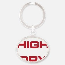 The Bends High and Dry white and red Oval Keychain