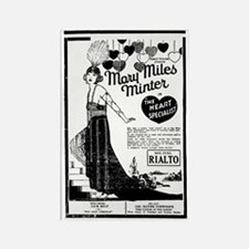 Mary Miles Minter Heart Spec. Rectangle Magnet