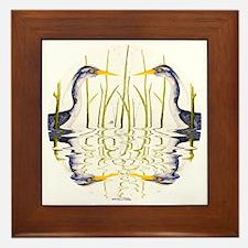 Blue Heron Lover Framed Tile