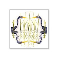 "Blue Heron Lover Square Sticker 3"" x 3"""